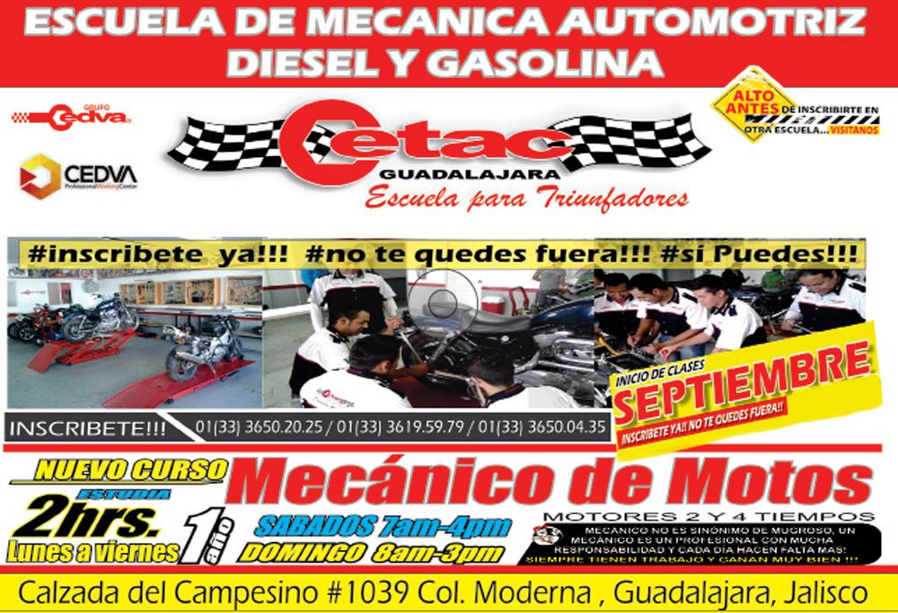 estudia mecánica de motocicletas en cetac guadalajara – revista moto