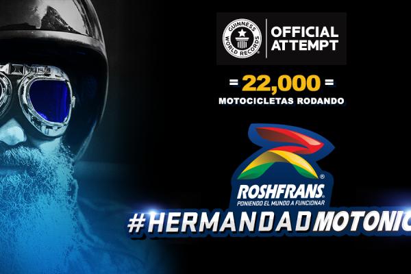 Contribuye con Roshfrans a romper el récord de las 22 mil motocicletas rodando