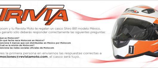 ¡Contesta la trivia y gánate el casco Shiro 881 modelo México!