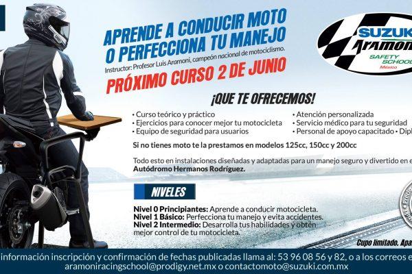 ¿Quieres salir a rodar y no manejas moto? Aprende en el Suzuki Aramoni Safety School