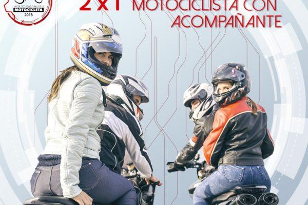 Asiste al SIMM con tu acompañante en moto y obtén tu entrada 2×1