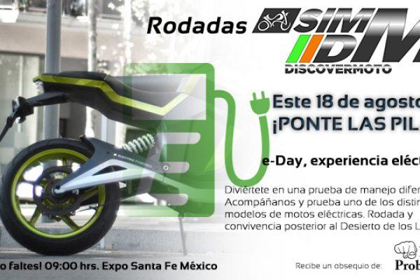 """¡Anímate a probar las motos eléctricas del """"e-Day experiencia eléctrica""""!"""